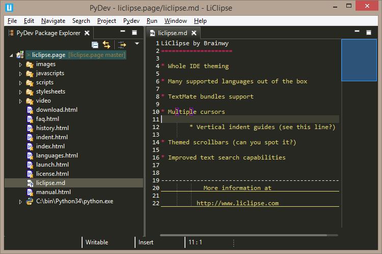 LiClipse for Mac 4.2 注册版 - 快速编辑器